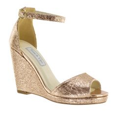 Holly Rose Gold Foil Open Toe Womens Evening / Prom Sandals - Shoes from Touch Ups by Benjamin Walk