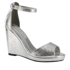 Holly Silver Foil Open Toe Womens Prom Sandals - Shoes from Touch Ups by Benjamin Walk