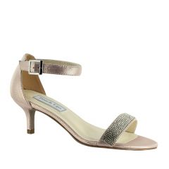 Isadora Champagne Shimmer Open Toe Womens Evening / Prom Sandals - Shoes from Touch Ups by Benjamin Walk