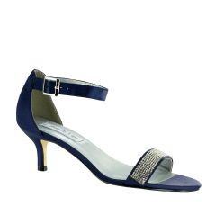 Isadora Navy Satin Open Toe Womens Evening / Prom Sandals - Shoes from Touch Ups by Benjamin Walk