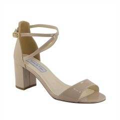 Jackie Nude Patent Open Toe Womens Evening / Prom Sandals - Shoes from Touch Ups by Benjamin Walk