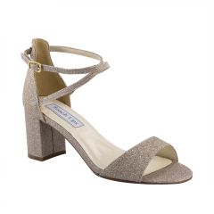 Jackie Champagne Glitter Open Toe Womens Evening / Prom Sandals - Shoes from Touch Ups by Benjamin Walk