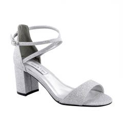 Jackie Silver Glitter Open Toe Womens Prom Sandals - Shoes from Touch Ups by Benjamin Walk