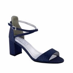 Jackie Navy Glitter Open Toe Womens Evening / Prom Sandals - Shoes from Touch Ups by Benjamin Walk