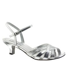 Jane Silver Glitter Open Toe Womens Prom Sandals - Shoes from Touch Ups by Benjamin Walk
