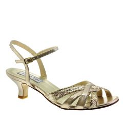 Jane Champagne Glitter Open Toe Womens Evening / Prom Sandals - Shoes from Touch Ups by Benjamin Walk