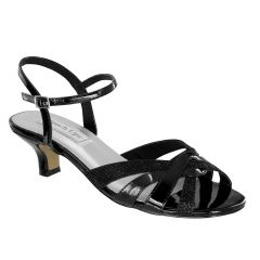 Jane Black Patent Open Toe Womens Evening Sandals - Shoes from Touch Ups by Benjamin Walk