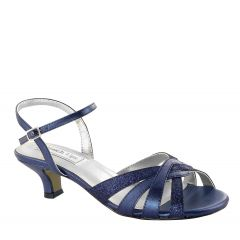 Jane Navy Glitter Open Toe Womens Evening / Prom Sandals - Shoes from Touch Ups by Benjamin Walk