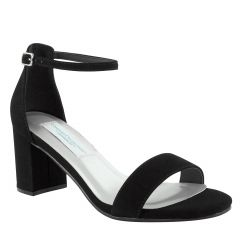 January Black Suede Open Toe Womens Evening Sandals - Shoes from Dyeables by Benjamin Walk