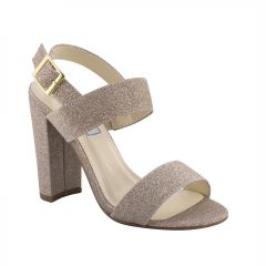 Jordan Champagne Glitter Open Toe Womens Evening / Prom Sandals - Shoes from Touch Ups by Benjamin Walk