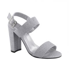 Jordan Silver Glitter Open Toe Womens Prom Sandals - Shoes from Touch Ups by Benjamin Walk