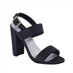 Jordan Black Glitter Open Toe Womens Evening Sandals - Shoes from Touch Ups by Benjamin Walk