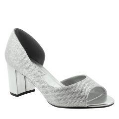 Joy Silver Glitter Peeptoe Womens Prom Pumps - Shoes from Touch Ups by Benjamin Walk
