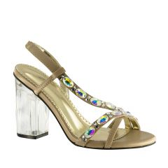 Juliana Taupe Lamy Open Toe Womens Pageant / Evening / Prom Sandals - Shoes from Johnathan Kayne by Benjamin Walk
