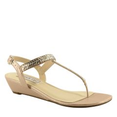 Kendra Nude Shimmer Open Toe Womens Destination / Evening / Prom Sandals - Shoes from Touch Ups by Benjamin Walk