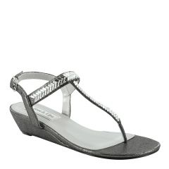 Kendra Pewter Shimmer Open Toe Womens Destination / Evening / Prom Sandals - Shoes from Touch Ups by Benjamin Walk
