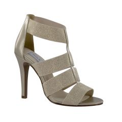 Kinsley Champagne Shimmer Open Toe Womens Evening / Prom Sandals - Shoes from Touch Ups by Benjamin Walk