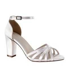 Lauren White Womens Open Toe Bridal Sandal -  Shoes from Dyeables by Benjamin Walk