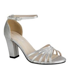 Lauren Silver Womens Open Toe Evening|Prom Sandal -  Shoes from Touch Ups by Benjamin Walk
