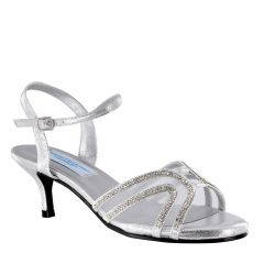Layla Silver Shimmer Open Toe Womens Prom Sandals - Shoes from Comfort Collection by Benjamin Walk