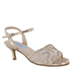 Layla Champagne Shimmer Open Toe Womens Evening / Prom Sandals - Shoes from Comfort Collection by Benjamin Walk