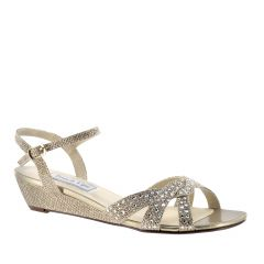 Lena Champagne Glitter Open Toe Womens Evening / Prom Sandals - Shoes from Touch Ups by Benjamin Walk