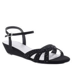 Lena Black Lamy Open Toe Womens Evening Sandals - Shoes from Touch Ups by Benjamin Walk