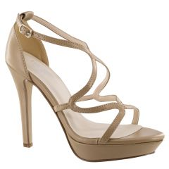 Lennox Taupe PU Open Toe Womens Pageant / Evening / Prom Sandals - Shoes from Touch Ups by Benjamin Walk