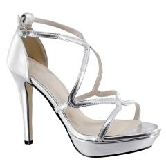 Lennox Silver Metallic Open Toe Womens Prom Sandals - Shoes from Touch Ups by Benjamin Walk