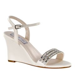 Lillian Ivory PU Open Toe Womens Bridal Sandals - Shoes from Diva by Benjamin Walk