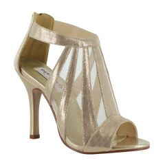 Lotus Champagne Shimmer Peeptoe Womens Evening / Prom Sandals - Shoes from Dyeables by Dyeables