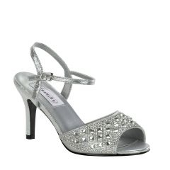 Lynn Silver Shimmer Open Toe Womens Prom Sandals - Shoes from Dyeables by Dyeables