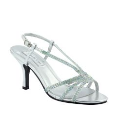 Lyric Silver Metallic Open Toe Womens Prom Sandals - Shoes from Touch Ups by Benjamin Walk