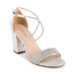 Mackenzie Silver Womens Open Toe Evening|Prom Sandal -  Shoes from Paradox London by Benjamin Walk