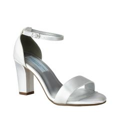 Maddox White Satin Open Toe Womens Bridal Sandals - Shoes from Dyeables by Dyeables