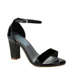 Maddox Black Patent Open Toe Womens Evening Sandals - Shoes from Dyeables by Dyeables