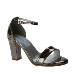 Maddox Pewter Mirror Open Toe Womens Evening / Prom Sandals - Shoes from Dyeables by Dyeables