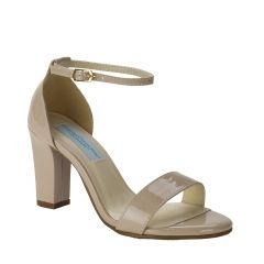 Maddox Nude Patent Open Toe Womens Pageant / Evening / Prom Sandals - Shoes from Dyeables by Dyeables