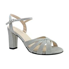 Maeve Silver Glitter Open Toe Womens Prom Sandals - Shoes from Touch Ups by Benjamin Walk
