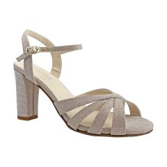 Maeve Champagne Glitter Open Toe Womens Evening / Prom Sandals - Shoes from Touch Ups by Benjamin Walk