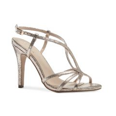 Magic Champagne Metallic Open Toe Womens Evening / Prom Sandals - Shoes by Paradox London