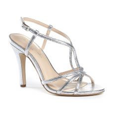 Magic Silver Metallic Open Toe Womens Prom Sandals - Shoes by Paradox London