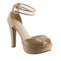 Magnolia Nude Patent Open Toe Womens Pageant / Evening / Prom Sandals - Shoes from Touch Ups by Benjamin Walk