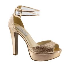 Magnolia Rose Gold Foil Open Toe Womens Evening / Prom Sandals - Shoes from Touch Ups by Benjamin Walk