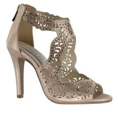 Margot Nude Shimmer Open Toe Womens Evening / Prom Sandals - Shoes from Touch Ups by Benjamin Walk
