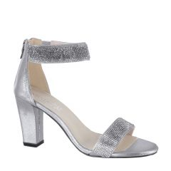 Marley Silver Womens Open Toe Evening|Prom Sandal -  Shoes from Touch Ups by Benjamin Walk