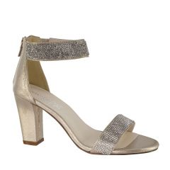 Marley Champagne Womens Open Toe Evening|Prom Sandal -  Shoes from Touch Ups by Benjamin Walk