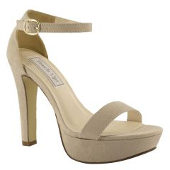 Mary Beige Imitation Suede Open Toe Womens Evening / Prom Sandals - Shoes from Touch Ups by Benjamin Walk