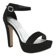 Mary Black Imitation Suede Open Toe Womens Evening Sandals - Shoes from Touch Ups by Benjamin Walk