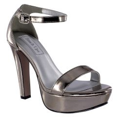 Mary Pewter Mirror Open Toe Womens Evening / Prom Sandals - Shoes from Touch Ups by Benjamin Walk